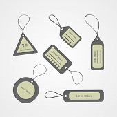 Retro style tags collection