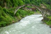 Senyuva Bridge over the Firtina river in Northern Turkey