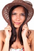 Pretty Woman With Wide-brimmed Hat Ii