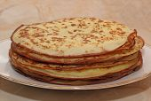 The Stack Of The Pancakes On The Plate