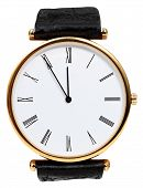 Five To Twelve O'clock On Dial Of Wristwatch
