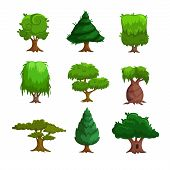 picture of planting trees  - Cartoon trees - JPG