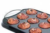 Muffin Tin With Fresh Muffins