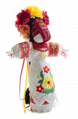 foto of rag-doll  - Folk handmade doll in traditional dress with embroidery - JPG