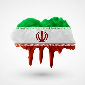 Flag of Iran painted colors