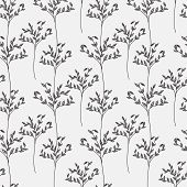Decorative trees seamless pattern. Vector background