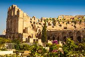 Tunisia. El Jem (ancient Thysdrus). Ruins Of The Largest Colosseum In North Africa