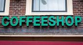 Coffeeshop signboard in Amsterdam, Netherlands