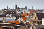 Roofs of old city in Amsterdam