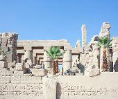 Ruins Of Karnak Temple At Luxor