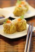image of chinese menu  - The famous adapted appetizer in asia which is Chinese Steamed Pork and Glass noodles Dumplings - JPG