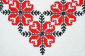 Cross stitch floral pattern
