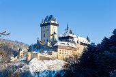 Gothic Castle Karlstejn Near Prague, Czech Republic