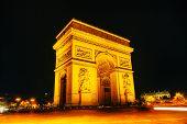Arc De Triomphe De L'etoile In Paris