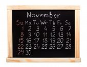 2015 year calendar. November. Week start on sunday