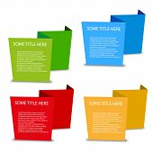four color empty spatial tags