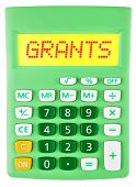 Calculator With Grants On Display
