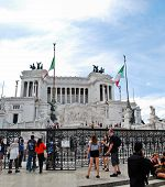 Tourists In Rome City On May 29, 2014