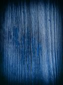 blue wooden background or texture