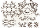 Collection Of Vector Engraved Frames In Antique Vintage Style