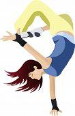 Woman dancer vector
