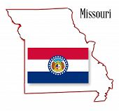 Missouri State Map And Flag