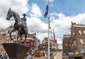Amsterdam. Monument To Queen Wilhelmina.