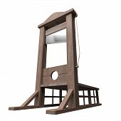 image of beheaded  - 3d rendering of a guillotine a dead instrument - JPG