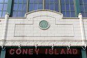 New York - September 01: Stillwell Avenue Subway Station Facade Detail On September 01, 2013 In Cone