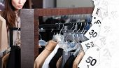 Girl is looking for a perfect clothing on sale with attractive discounts