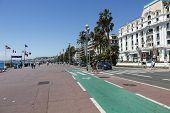 Bike Path Along The Promenade
