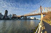 Roosevelt Island And Queensboro Bridge, Manhattan, New York