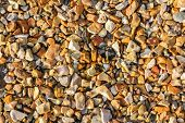 Golden Coloured Stone Chippings For Background