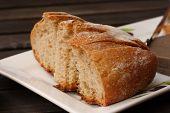 Sliced Fresh Rye Sourdough Bread
