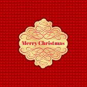 Background with Christmas Label. Greeting Card