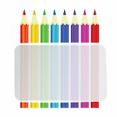 Colorful Pencils Vector Background