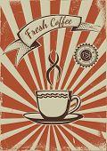 Vintage Coffee shop advertisement poster. EPS10 Vector template