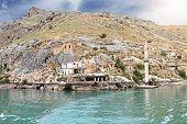 pic of euphrates river  - Sunken village Halfeti in Gaziantep  - JPG