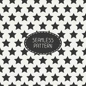 stock photo of starry  - Geometric seamless pattern with stars - JPG