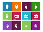 stock photo of mouse  - Mouse and num lock icons on color background - JPG
