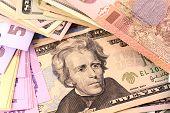 image of american money  - european money - JPG