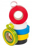 picture of insulator  - Multicolored insulating tapes roll - JPG