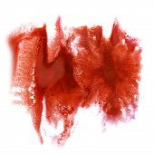 pic of insults  - Abstract cherry watercolor hand painted  background insult Rorschach  psychology - JPG