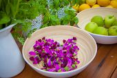 foto of sweetpea  - vegetarian food indredients with organic fruit and herbs - JPG