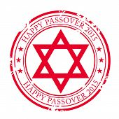 stock photo of passover  - illustration of a stamp for Happy Passover - JPG