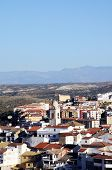 pic of church  - View of the town and Church of the Encarcacion Loja Granada Province Andalucia Spain Western Europe - JPG
