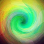 stock photo of parallelepiped  - retro background made from a triangles twirls - JPG