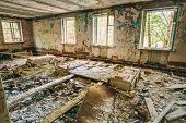 picture of nuclear disaster  - Abandoned House Interior In Chernobyl - JPG