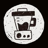 picture of juicer  - Juicer Doodle Drawing - JPG
