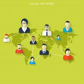 picture of avatar  - Flat social media and network concept - JPG